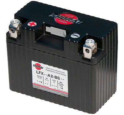 Shorai LFX14A2-BS12 Lithium Iron Motorcycle Battery - Replaces YTX7A-BS YB9-B
