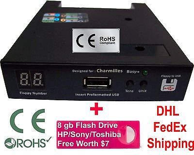 Floppy Drive to USB Converter for Charmilles Robofil 190 + 8gb (1.44 mb)