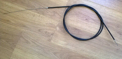 Lambretta  Black Throttle Cable . Extra Long. 77 Brand New
