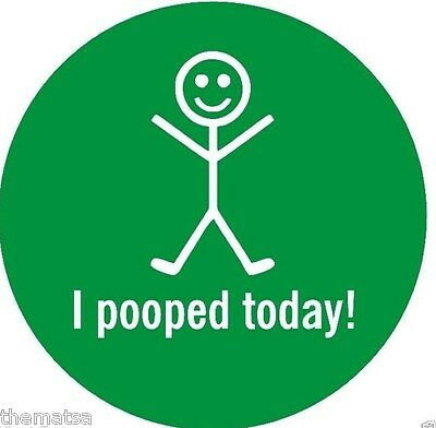 I POOPED TODAY GREEN HELMET CAR BUMPER STICKER DECAL MADE IN USA