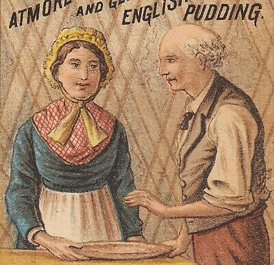 Atmore's Mince Meat English Plum Pudding Victorian Advertising Trade Card c 1880