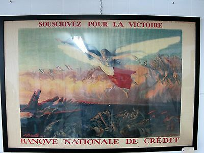 Ww1 French Poster Signed H. Richard-Gutz, Paris 1916