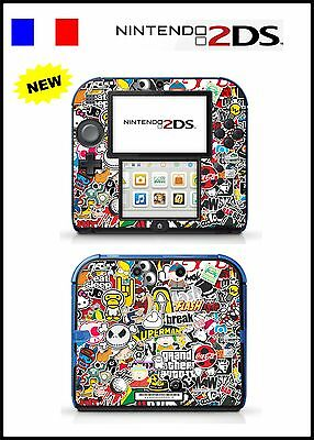Skin Sticker Autocollant Deco Pour Nintendo 2Ds Ref 131 Sticker Bomb