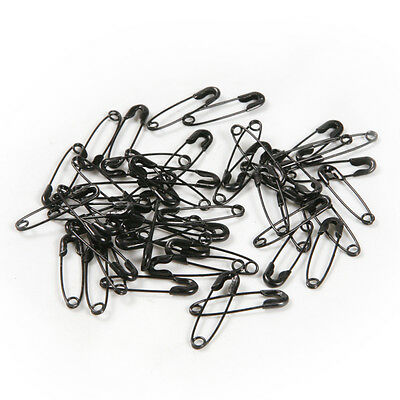 50pcs Black Iron Safety Pins 19mm Patchwork Quilting Badge DIY Sewing Craft
