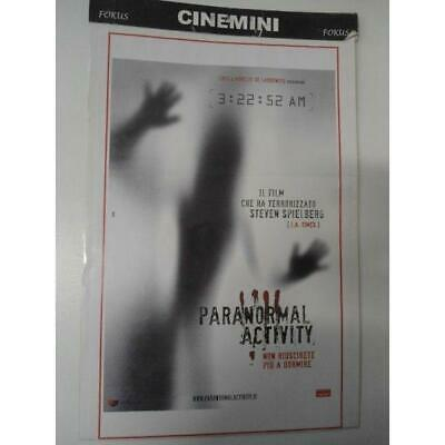 Poster Locandina Cinematografica Film Paranormal Activity Cinemini