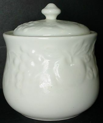 GIBSON DESIGNS china FLOURISH pattern SUGAR BOWL & LID 3-1/4""