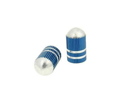 Kymco Agility RS 125  Tyre Valve Cap Set Bullet Anodised Blue