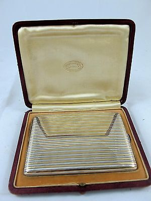 French Art Deco Sterling Silver Cig Case,  Mappin & Webb C1930'S