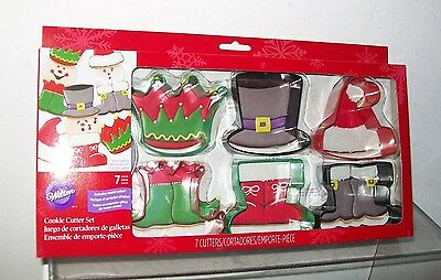 Wilton Brand Set Of 7 Christmas Cookie Cutters