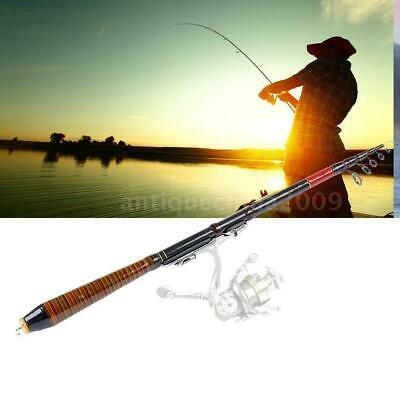 Portable Carbon Telescopic Spinning Casting Pole Saltwater Sea Fishing Rod 2.1M