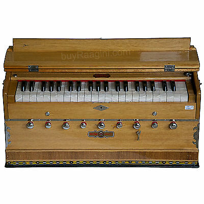 Harmonium|Bina Sangeet Harmonium|Coupler Funct.|Natural Color|42 Key|3½|Bjb