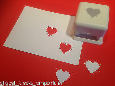 Martha Stewart STUDDED HEART Punch All Over The Page PAOP - BRAND NEW!