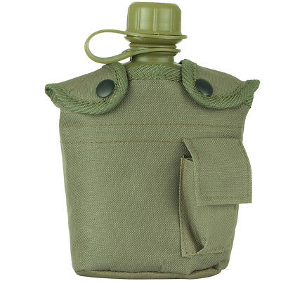 Military Patrol Water Bottle Army Canteen & Carry Case Alice Hiking Travel Olive