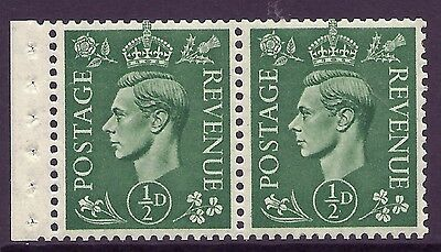 QB6 perf type E - ½d Pale Green Booklet pane UNMOUNTED MINT/MNH