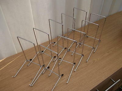 """10 CHROME PLATE DISPLAY STANDS UP TO 12"""" (30CM) ITEM (7""""/17cm tall approx)"""