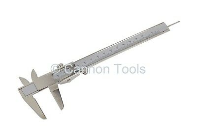 "6"" 150mm Steel Sliding Caliper Vernier Measuring Gauge Depth Height Tool NEW"