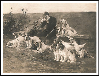 Petit Basset Griffon Vendeen Huntsman and dogs LOVELY IMAGE DOG PRINT POSTER