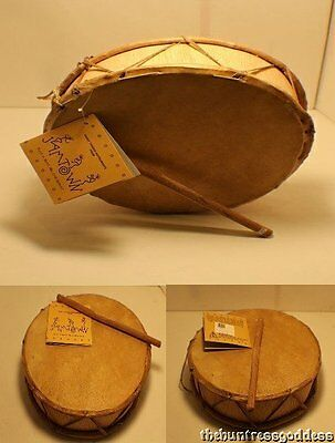 Ritual Authentic Double Faced Drum Handmade with Goats Skin From Peru.
