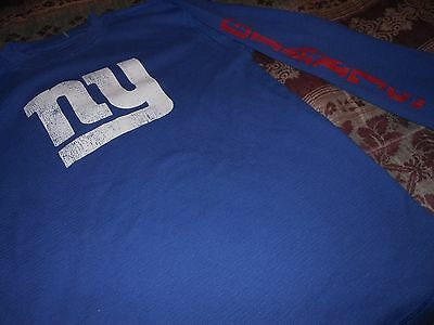 Old Navy BOYS long sleeved thermal shirt + New York Giants + blue