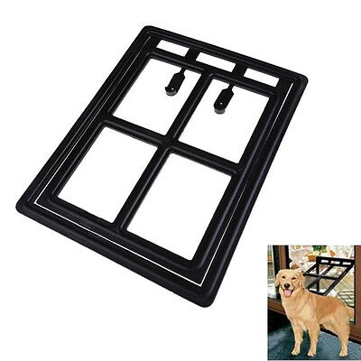 New Large Dog Cat Kitty Pet Door for Home Cottage Screen Window Gate Black #F8s