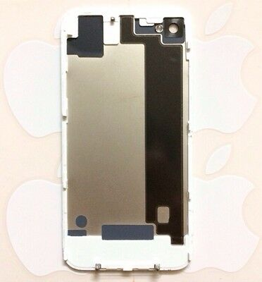 New Oem Original White Apple Iphone 4 Cdma Back Glass Battery Door Cover A1349