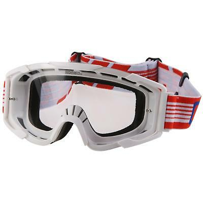 ONeal B2 RL Cross Brille Goggle Weiß Rot MX DH Motocross Enduro Offroad Downhill