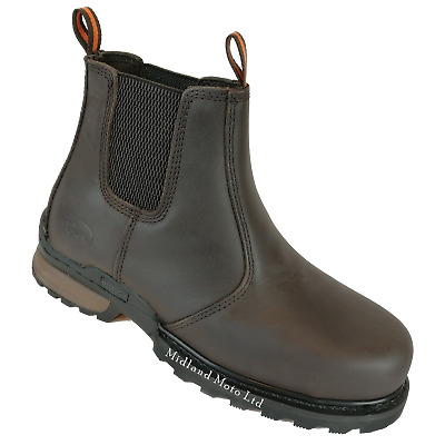 WORKFORCE  Waterproof Steel Toe Cap Safety Dealer Boots. Size 6 - 13. WF8D-P