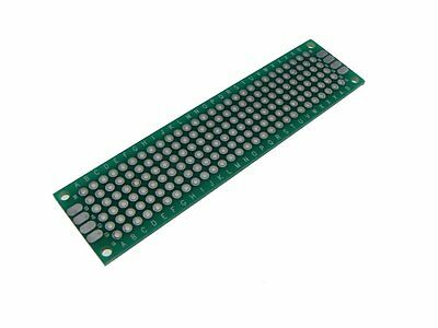 5PCS HQ 2*8cm Double Side Prototype Board Perforated 2.54mm Plated Through Hole
