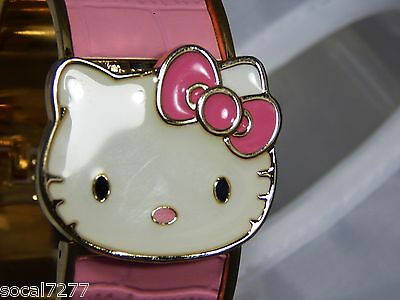 UNIQUE SANRIO Hello Kitty Women's Wrist Watch PINK Face Bold Numbers CUTE!