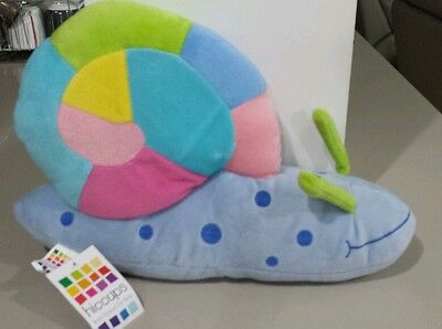 "Hiccups Childrens Baby Novelty Plush Decor  Bedroom Cushion Pillow ""sally Snail"""