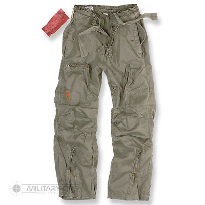 Surplus Infantry Cargo Trousers Raw Vintage Cargo Combat Pants Olive Green