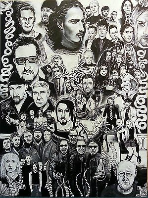 "Poster of 90s Rock Bands: ""Memories of 1993"""