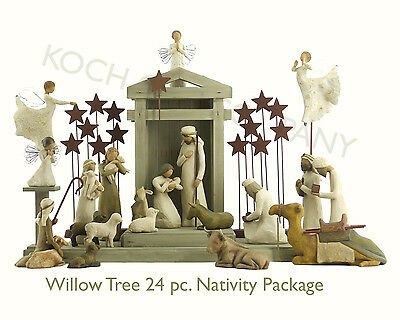 Demdaco Willow Tree Nativity 24 Piece Set - BRAND NEW - IN Stock - Fast Ship