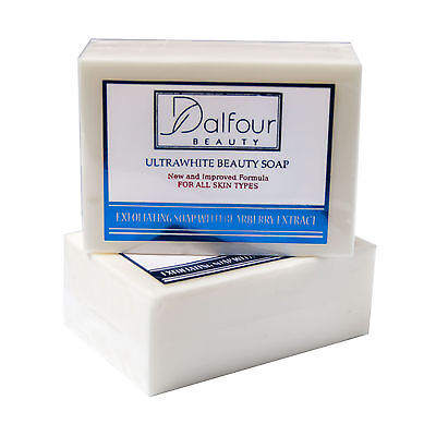 NEW Dalfour Beauty Ultrawhite Beauty Soap - Great for All Skin Types!