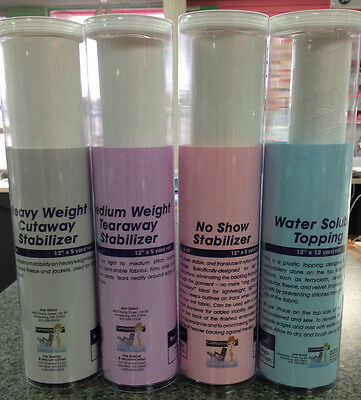 Stabilizer Combo- Tearaway, Cutaway, No Show, & Water Soluble!!