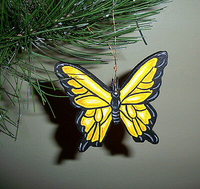 Butterfly - handpainted wooden ornament #159