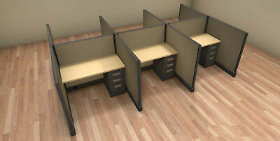 SET of 6 OFFICE CUBICLES SYSTEMS WORKSTATIONS for Telemarketing 4 feet x 4 feet