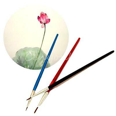 3/6pcs Artist Face Paint Tip Brushes Oil Painting Watercolor Drawing Pen Craft