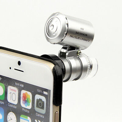 "60x Zoom Magnify Lens Microscope with LED UV Light & Case Kit for 4.7"" iPhone 6"