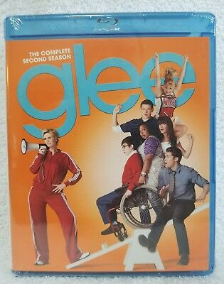 Glee: The Complete Second Season (Blu-ray Disc, 2011, 4-Disc Set) New