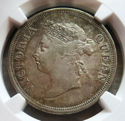 1901 Silver Straits Settlements 50 Cent Ngc Very Fine 30