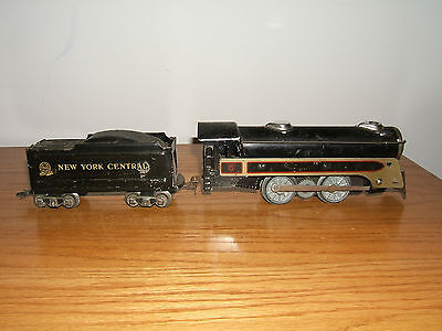 MARX #494 CANADIAN PACIFIC 0-4-0 LOCOMOTIVE & NEW YORK CENTRAL TENDER