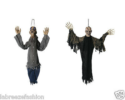 HALLOWEEN ZOMBIE SCARY GHOST HANGING DECORATIONS PROP HAUNTED PARTY