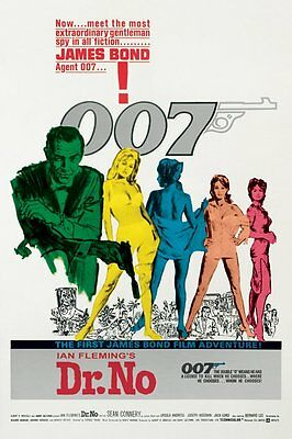 James Bond 007 - Dr No POSTER 61x91cm NEW * The First Film Adventure Spy Agent