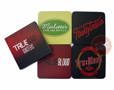 TRUE BLOOD Coasters Merlotte's Fangtasia tru:blood NEW