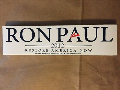 3x RON PAUL 2012 OFFICIAL C4L BUMPER STICKERS Decal Car Campaign For Liberty