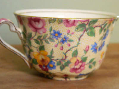 Royal Winton Wright Tyndale van Roden Clevedon Coffee Cup Floral Chintz