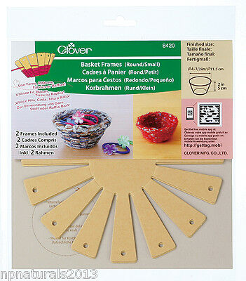 Basket Frames from Clover - Small, Large, Extra Large, Round, Square, Oval.