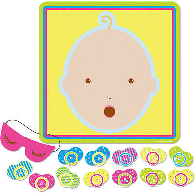 NEW BABY SHOWER PARTY GAME pin the dummy pacifier on baby decoration supplies