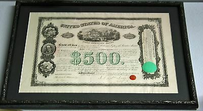 RARE Piece Original 1866 MEXICO SANTA ANA BOND w AUTOGRAPH! COA included